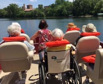 Residents on boat ride