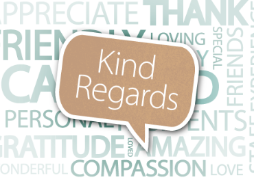 Kind Regards: 'Staff who are loving, committed, kind and caring'