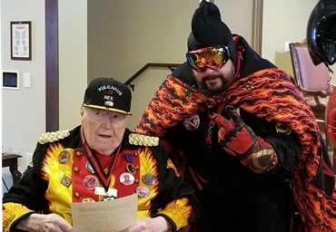 "Hail Vulc! Liberty Dream comes true for oldest living St. Paul Carnival ""Vulcanus Rex"""