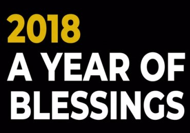 2018: A year of blessings