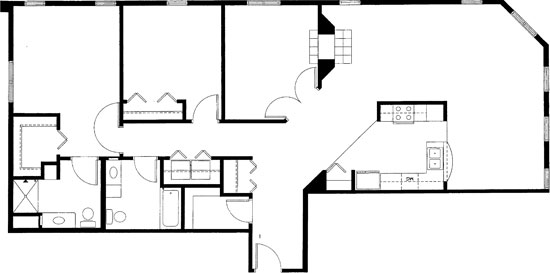 Two Bedroom/Den - Two Bedroom Floorplan