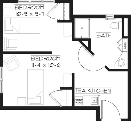 Shared Suite - Shared Suite Floorplan