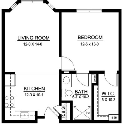 Eclipse - One Bedroom Floorplan