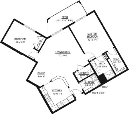 Chapman - Two Bedroom Floorplan