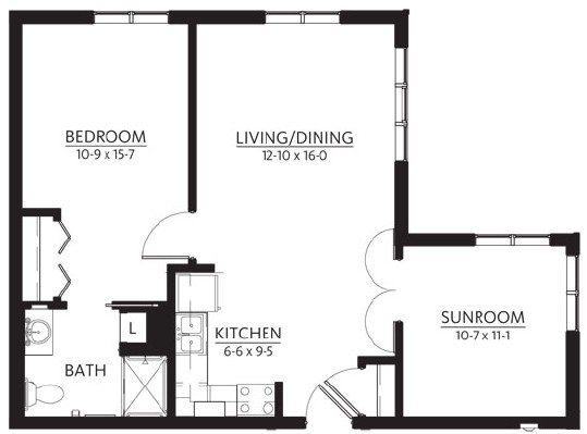 Menomonee - One Bedroom Floorplan