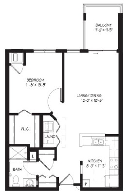 Big Manitou - One Bedroom Floorplan
