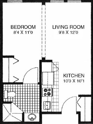 Mountain Ash - Studio Floorplan