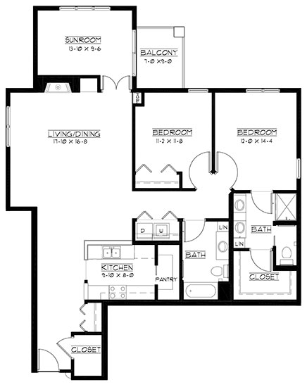 Royal Dornock - plus - Two Bedroom Floorplan