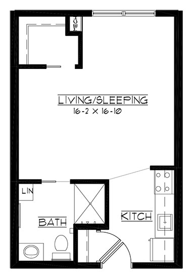 Blackwolf Run - Studio Floorplan