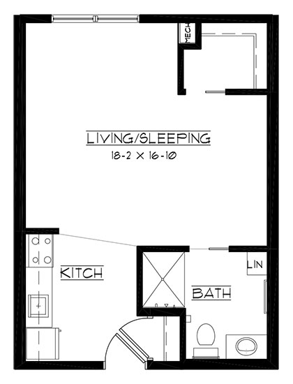 Blue Mound - Studio Floorplan