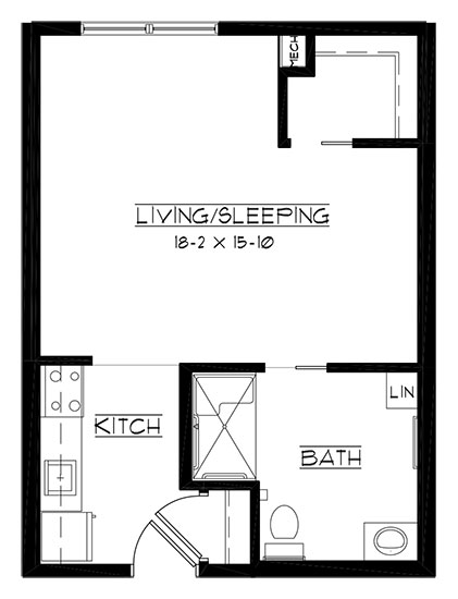Blue Mound - accessible - Studio Floorplan