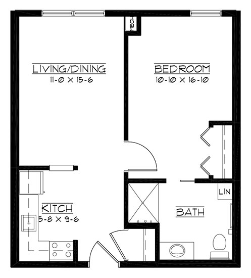 Grand Geneva - One Bedroom Floorplan