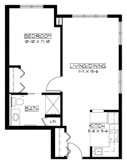 Pine Hills - One Bedroom Floorplan
