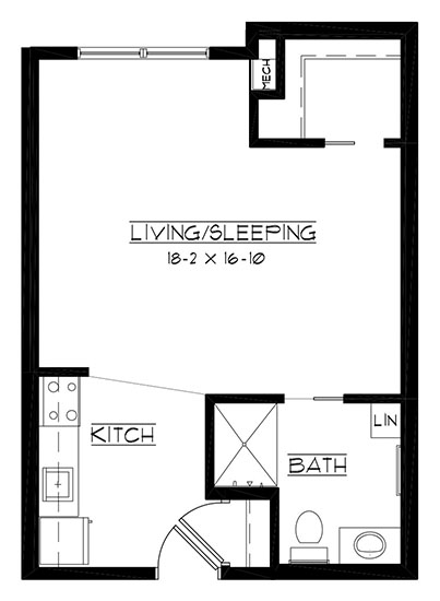 The Bull - Studio Floorplan