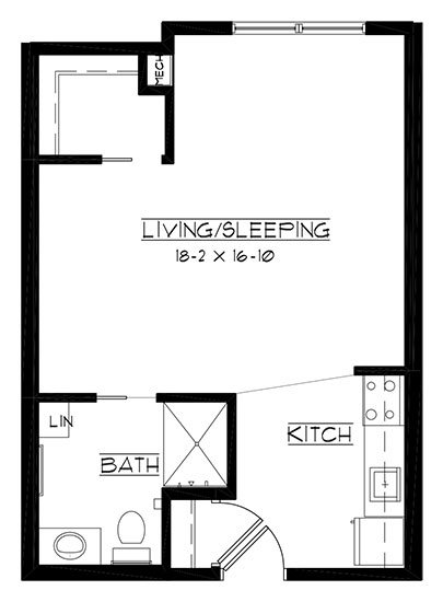 Wild Rock - Studio Floorplan