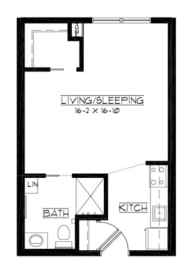 Ace - Studio Floorplan