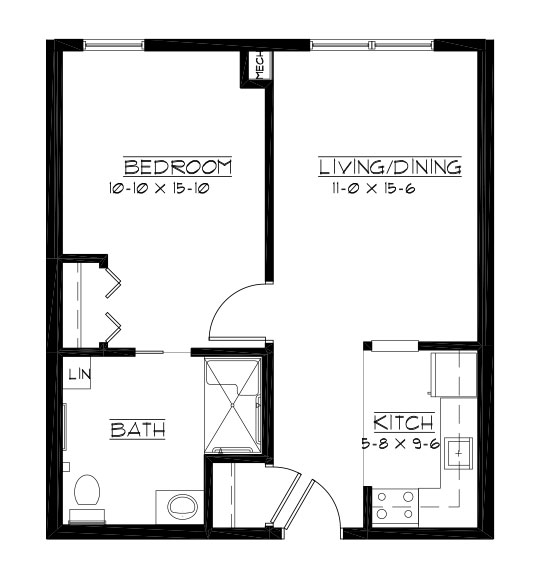 Eagle - One Bedroom Floorplan