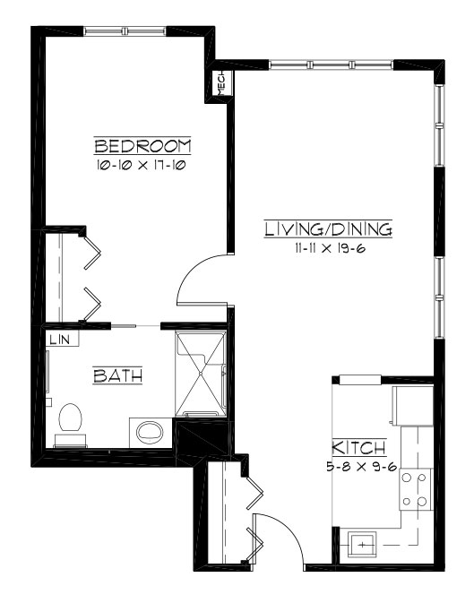 Masters - One Bedroom Floorplan