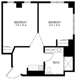 C - Shared Suite Floorplan