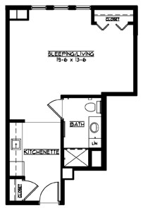 A5 - Studio Floorplan