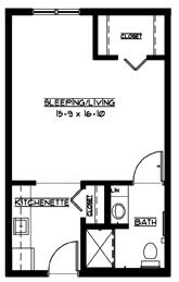 A - Studio Floorplan