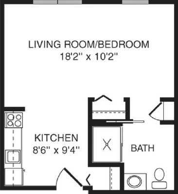 Primrose - Studio Floorplan