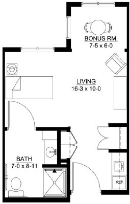 Crow - Studio Floorplan
