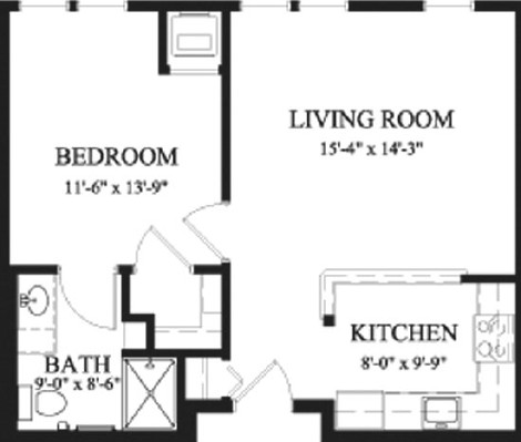 Arbor Beech - One Bedroom Floorplan