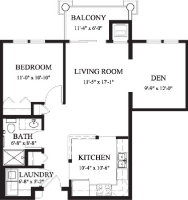 Birch - One Bedroom Floorplan