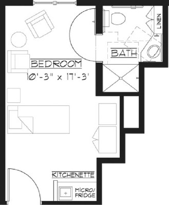 Suite A - Private Room Floorplan