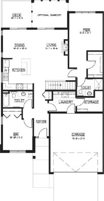 Geranium - Two Bedroom Floorplan
