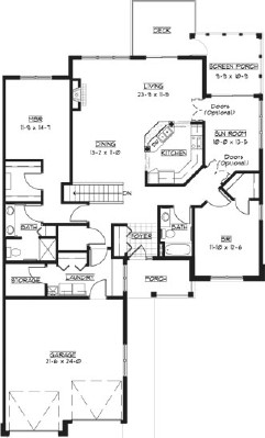 Hisbiscus - Two Bedroom Floorplan