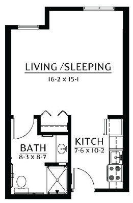 Chippewa - Studio Floorplan