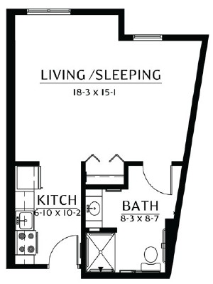 Clearwater - Studio Floorplan