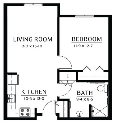 Minnesota - One Bedroom Floorplan