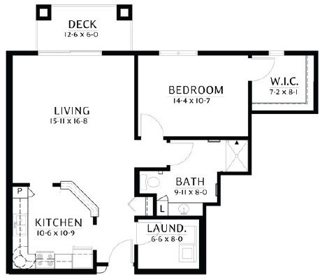 Forest - One Bedroom Floorplan