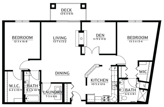 Phalen - Two Bedroom Floorplan