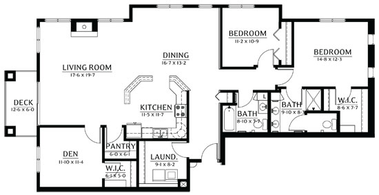 Vermilion - Two Bedroom Floorplan