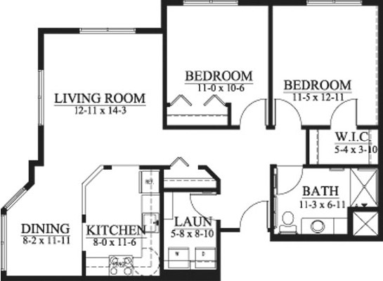 Wallace - Shared Suite Floorplan