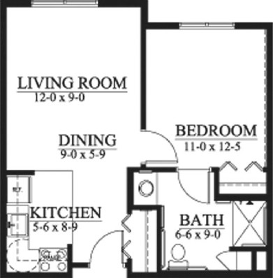 Gavin - One Bedroom Floorplan