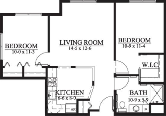 Kester - Two Bedroom Floorplan