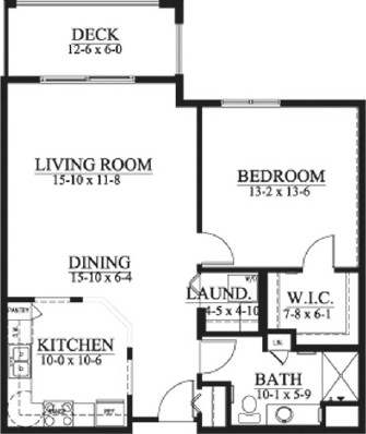 Camden - One Bedroom Floorplan