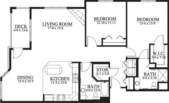 Macalister - Two Bedroom Floorplan