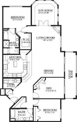 Rhona - Two Bedroom Floorplan