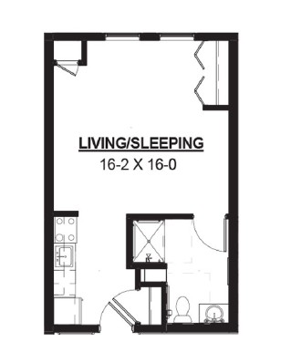 Axel - Studio Floorplan
