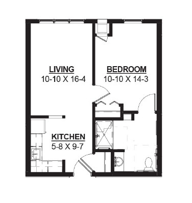 Candy - One Bedroom Floorplan