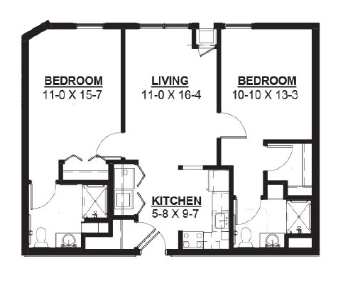 Juice - Two Bedroom Floorplan