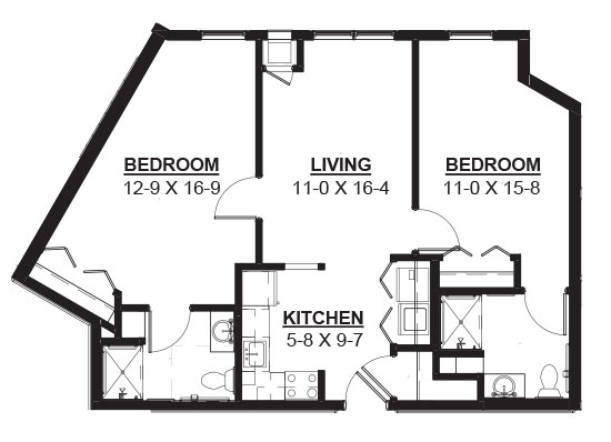 Molasses - Two Bedroom Floorplan
