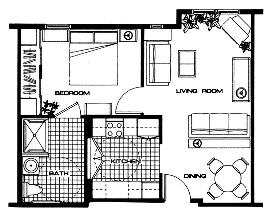 The Belt - One Bedroom Floorplan