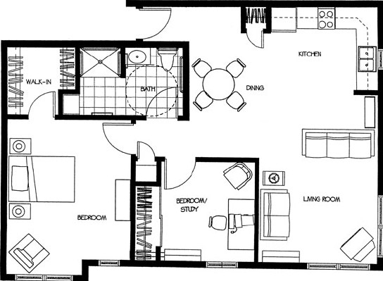 James - Two Bedroom Floorplan
